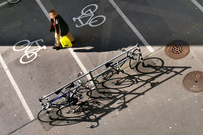 Bicycles in the sun