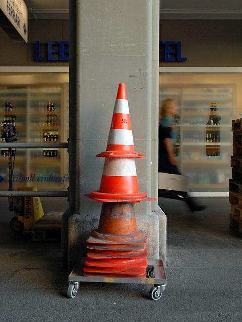 Cones on wheels