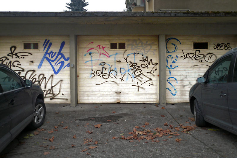 Garage door graffiti