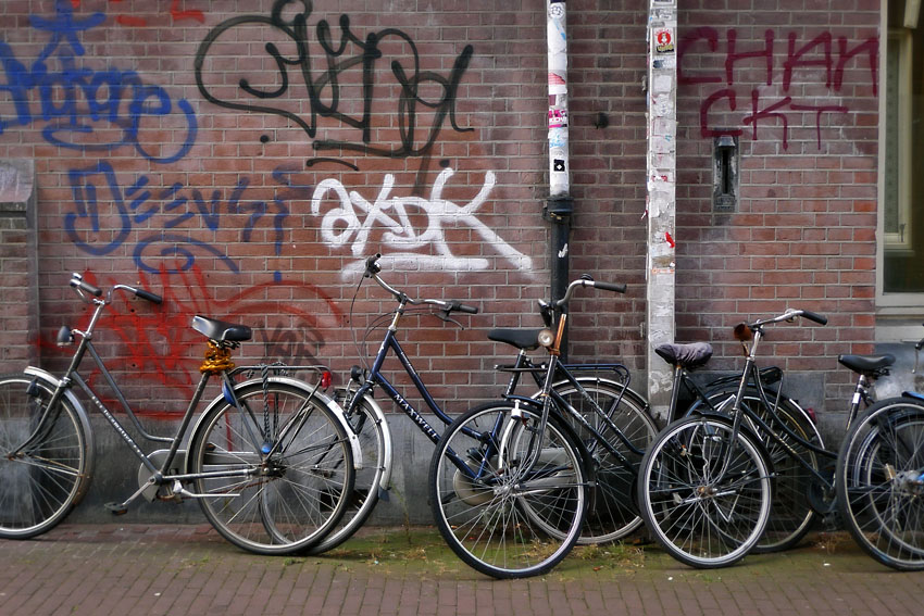 Bikes and graffiti