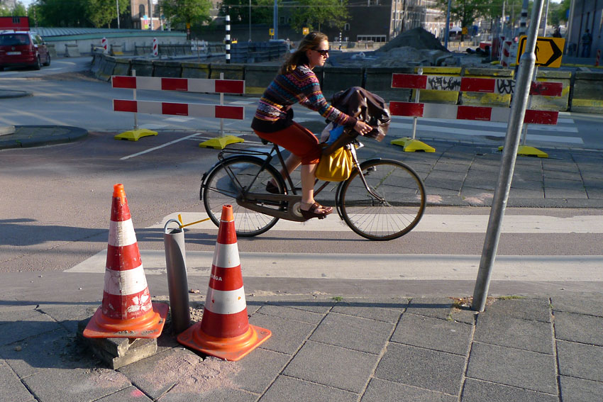 Bike and cones