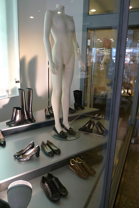 Shoes and mannequin