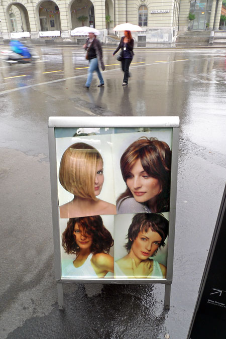 Hairdos in the rain
