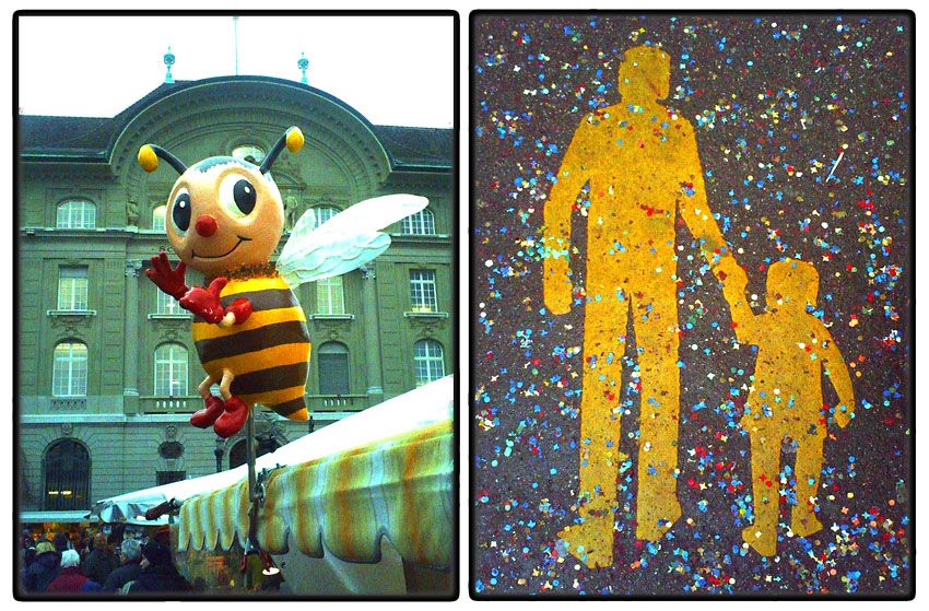 People and bee