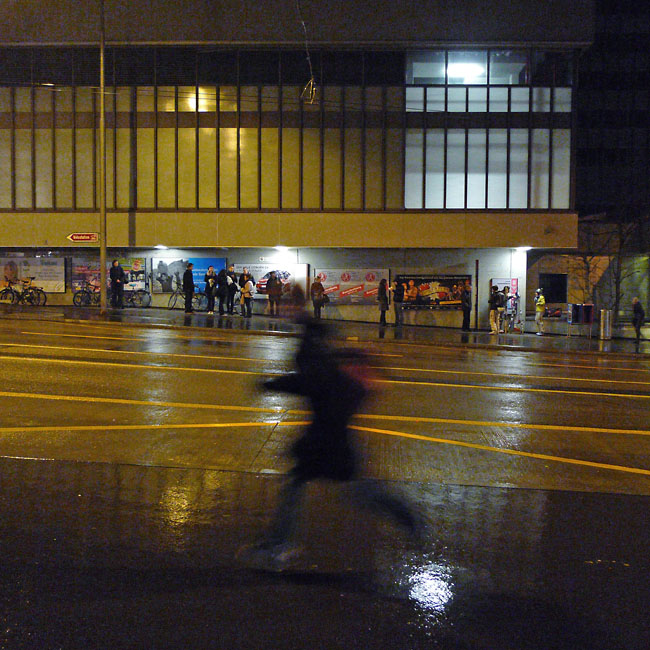 Rainy night in Schanzenstrasse