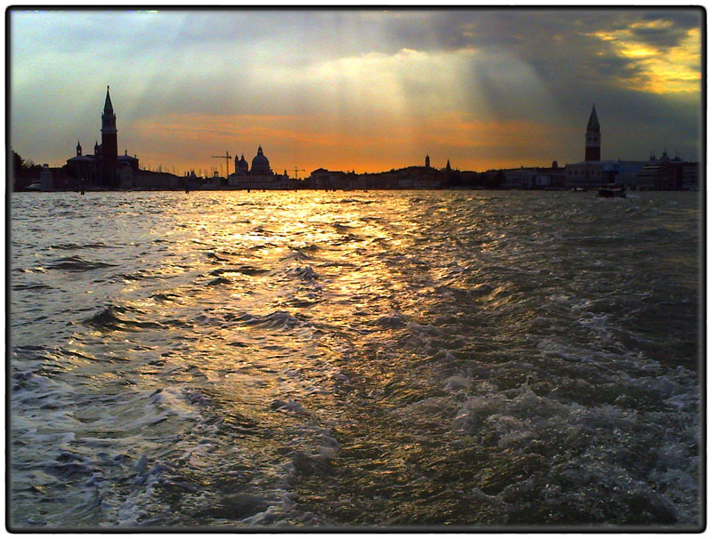 Venice skyline at sunset