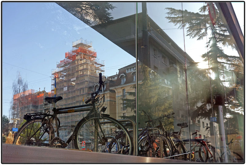 Reflection with bikes