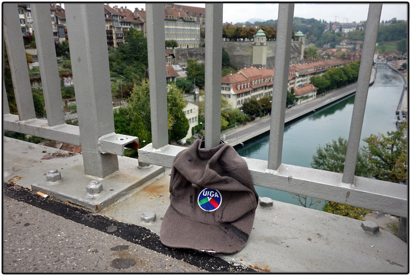 Lost cap on bridge