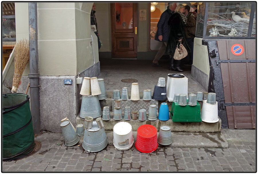 Pots and buckets