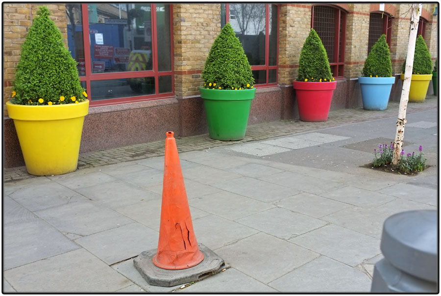 Different colours, different cones
