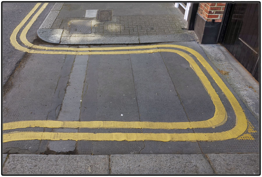Double yellow line