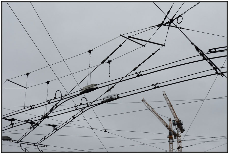 Cranes and wires