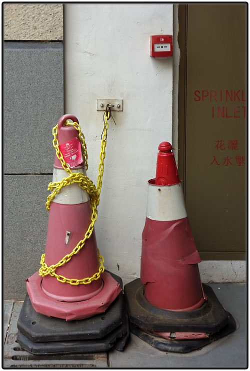 Chained cone and damaged cone