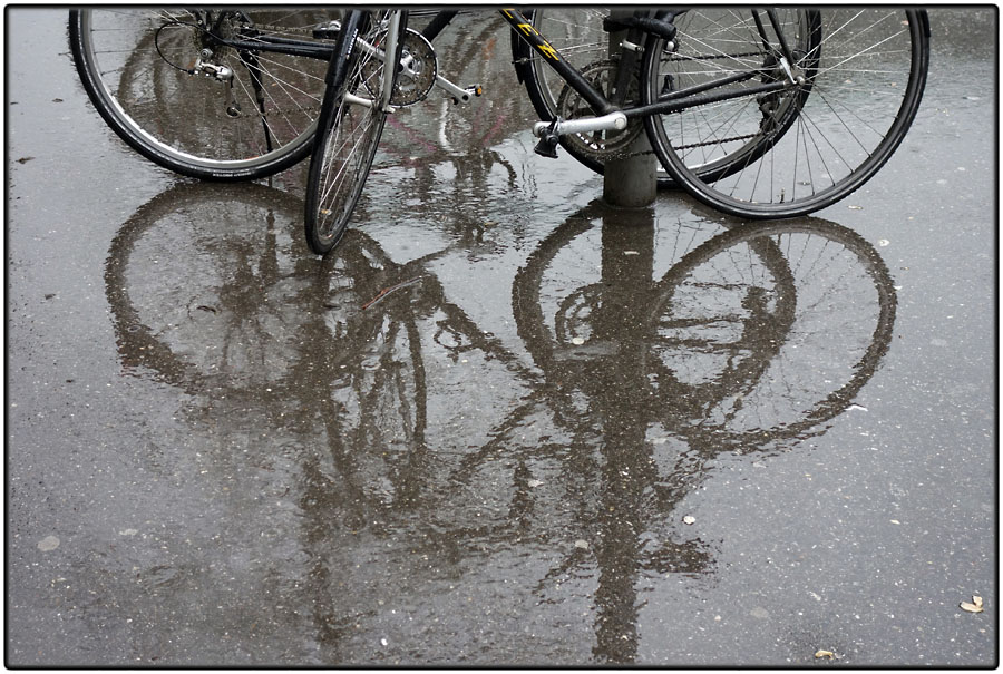 Bicycles reflected