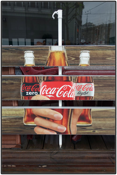 Coca-Cola on skewer