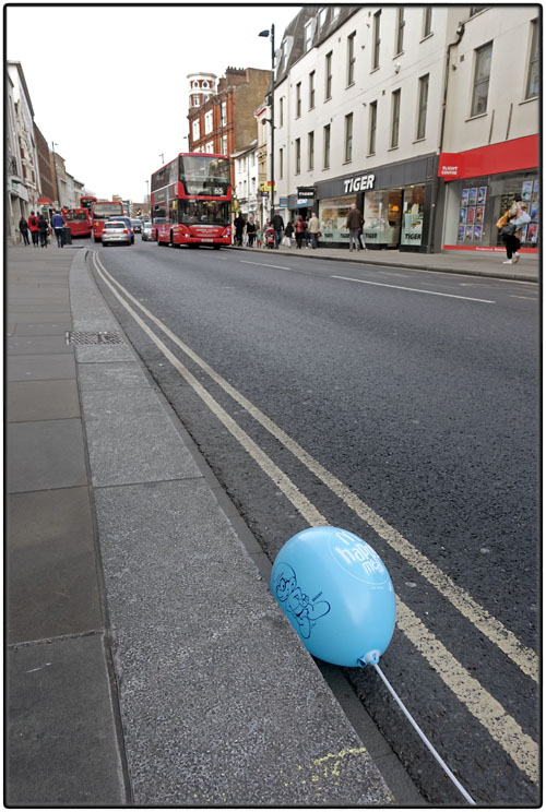 Lost blue balloon