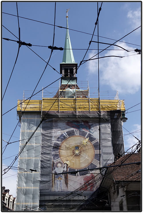 The Clock Tower is being renovated