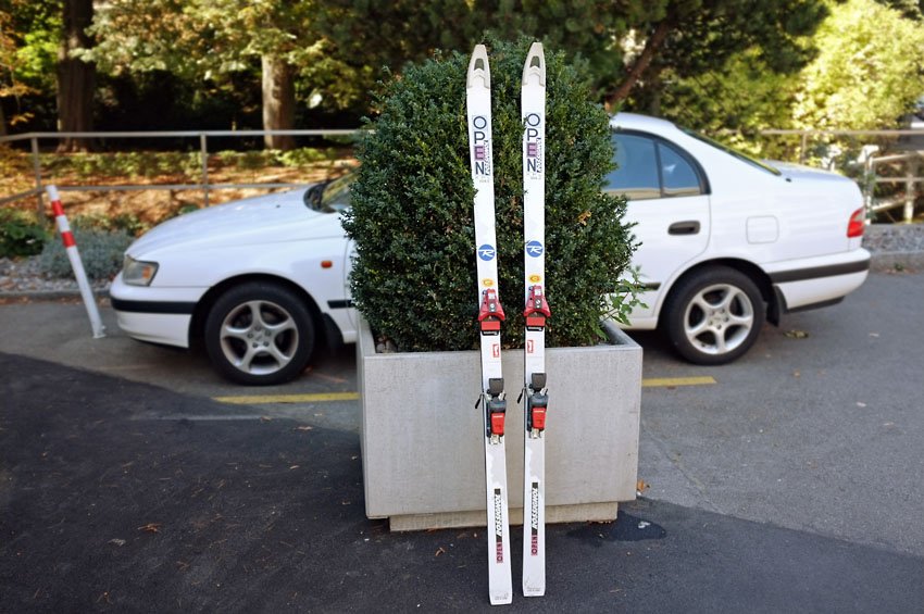 Discarded skis
