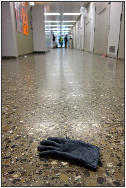 Lost black glove
