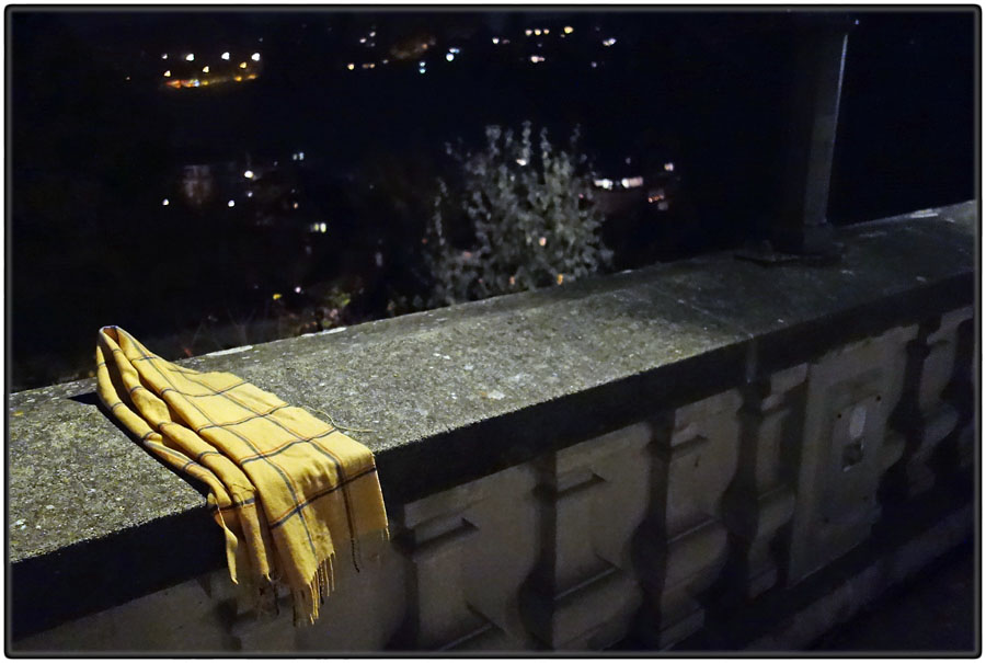 Lost scarf , night