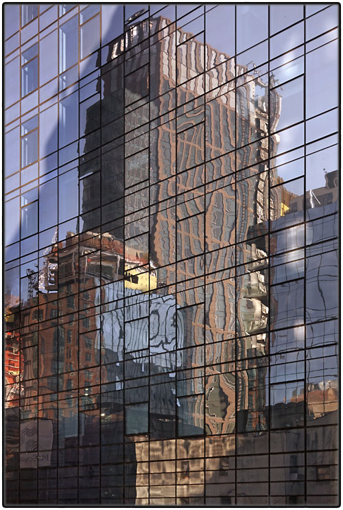 Reflected skyscrapers
