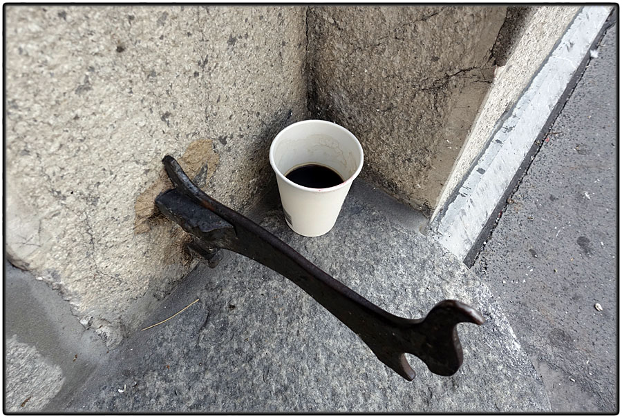 Lost cup of coffee